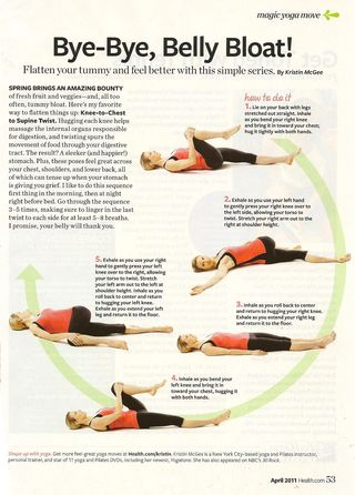 Health magazine belly bloat 001