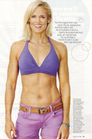 Dara Torres is the cover gal and she is the rock star of all female athletes ...