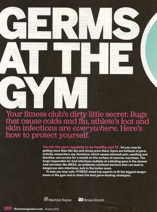 Germs at the Gym 001