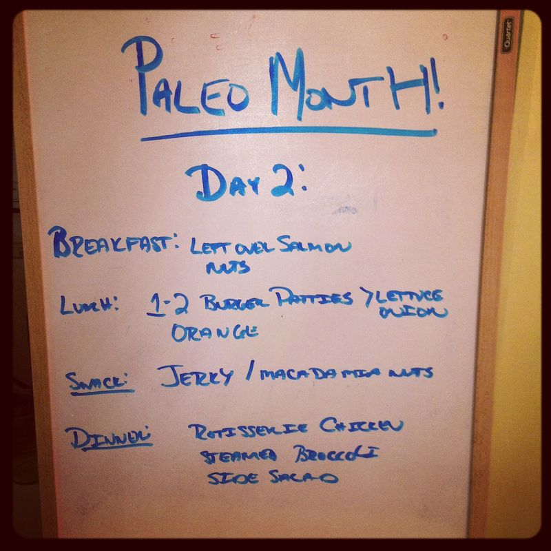 Paleo day 2