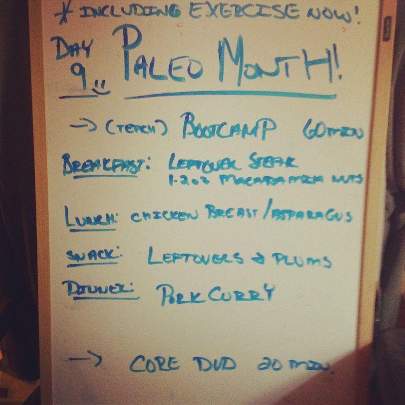 Paleo day 9