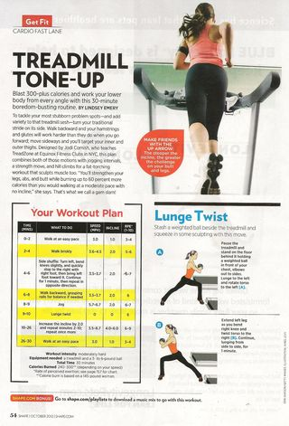 Treadmill workout 001