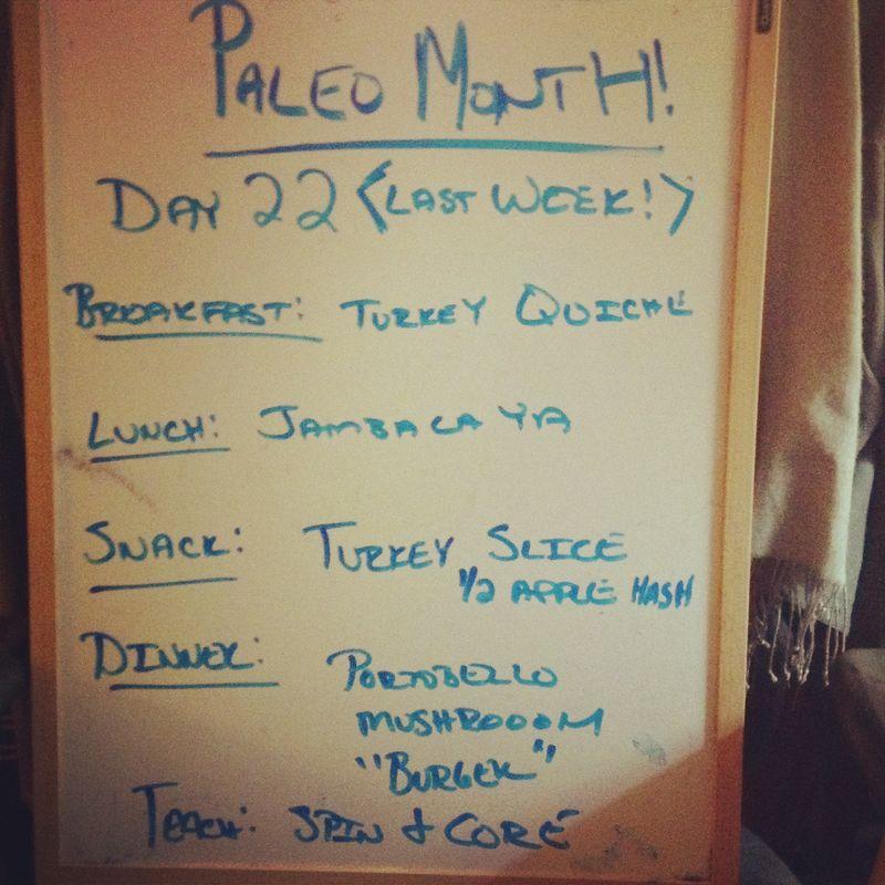 Paleo Day 22