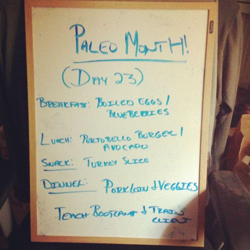 Paleo Day 23