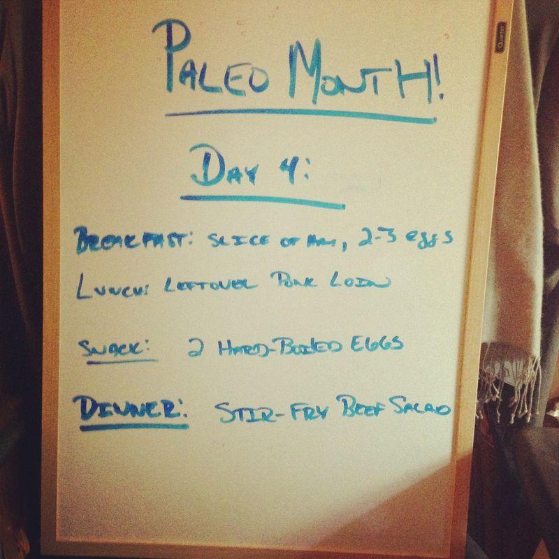 Paleo day 4
