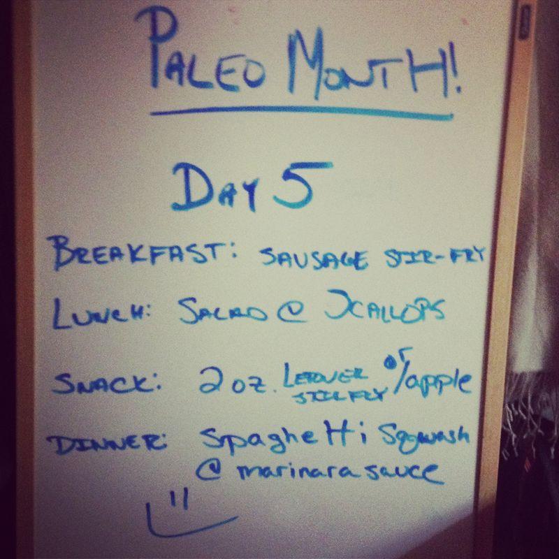 Paleo day 5