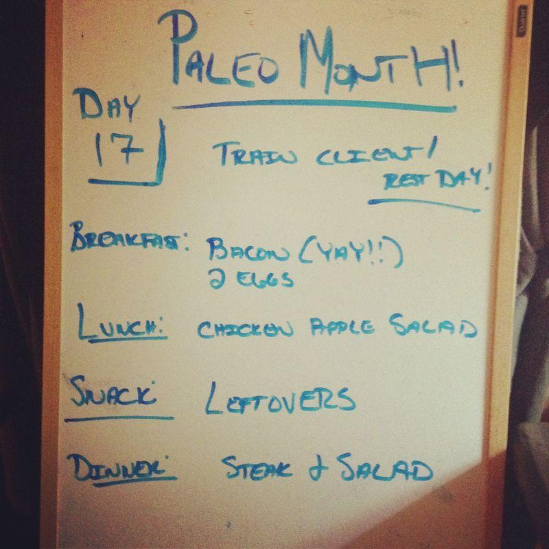 Paleo day 17