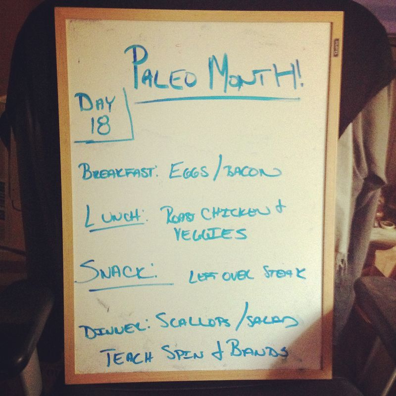 Paleo Day 18